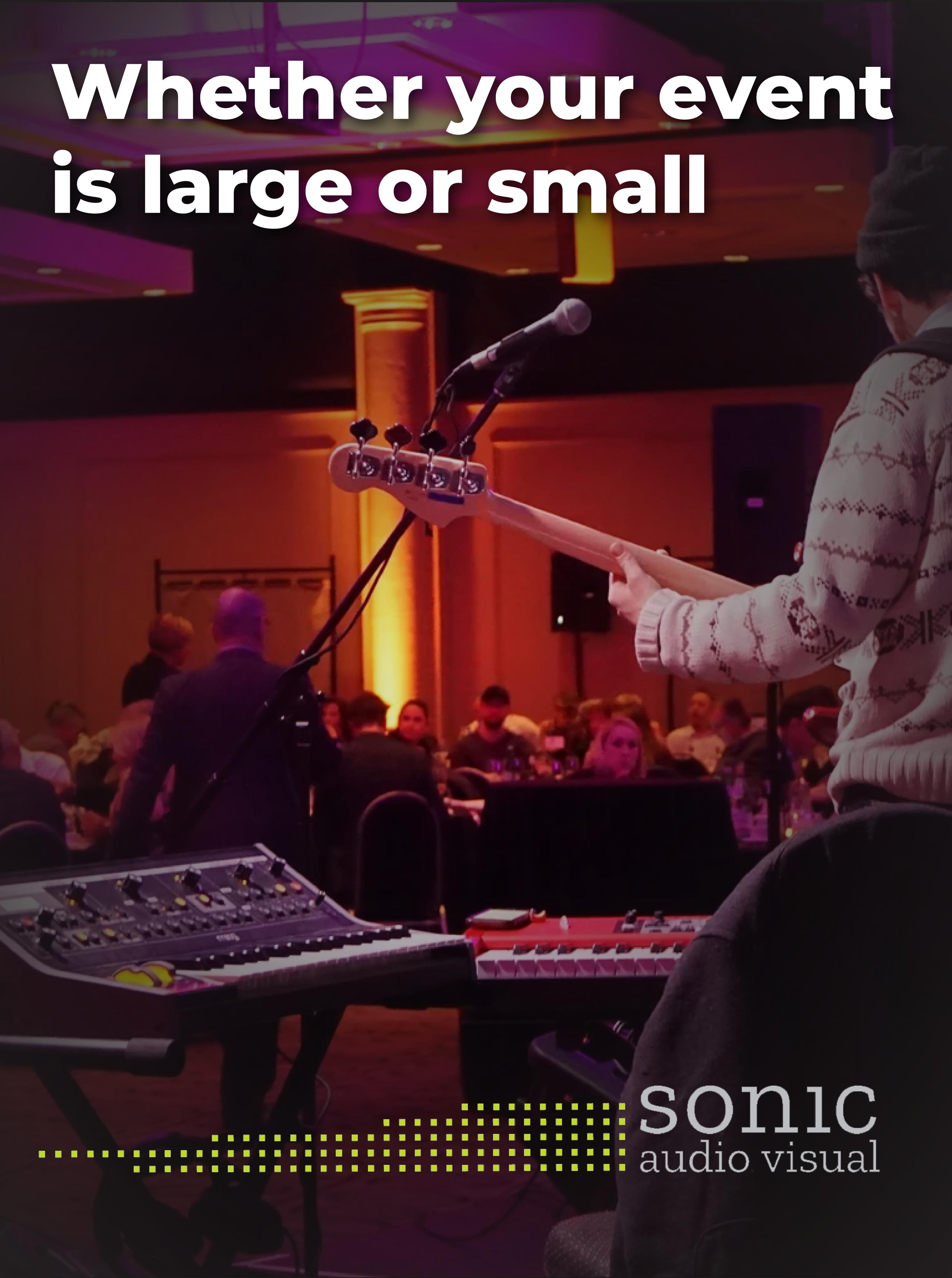 Sonic Audio Visual ad slide 2