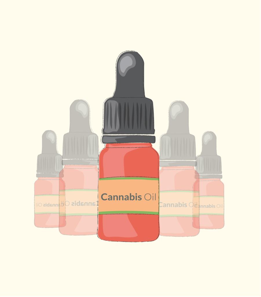 illustration of cannabis oil