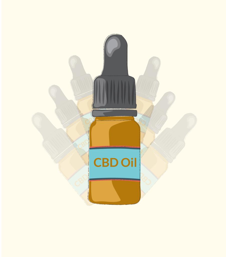 illustration of cbd oil