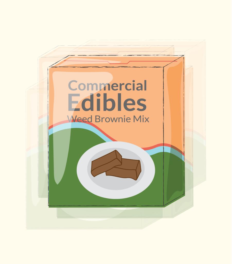 illustration of edible brownie box